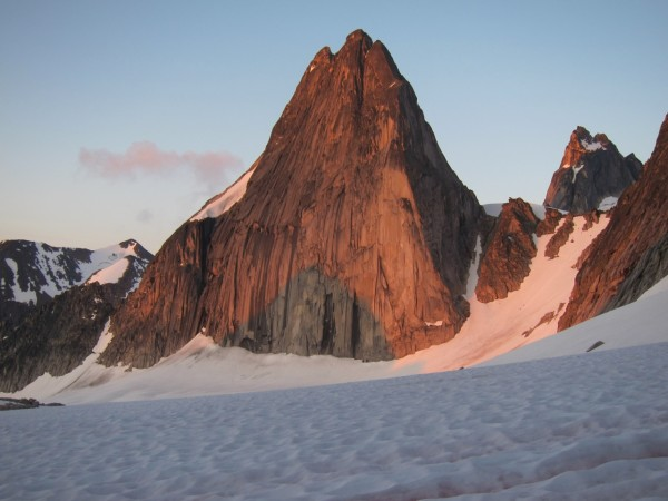 Early morning light hits Snowpatch Spire