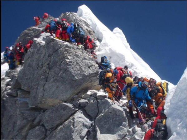 kine da busy n da line up fo da peak