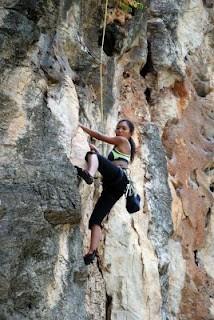 Ernita Climbing Batu Cave Malaysia