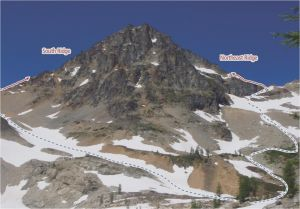 Black Peak - Northeast Ridge II 5.3 - Washington Pass, Washington, USA. Click to Enlarge