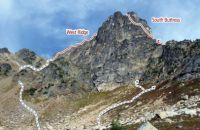 Cutthroat Peak - West Ridge III+ 5.7 - Washington Pass, Washington, USA. Click to Enlarge