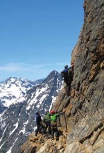 Liberty Bell - Beckey Route II 5.7- - Washington Pass, Washington, USA. Click to Enlarge