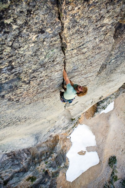 Ryan Daudistel on the East Face of Lexington Tower.