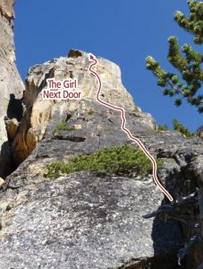 Liberty Bell - The Girl Next Door II 5.9- - Washington Pass, Washington, USA. Click to Enlarge
