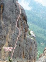 Concord Tower - Tunnel Route II 5.8 - Washington Pass, Washington, USA. Click to Enlarge