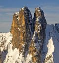 North Early Winters Spire - Early Winter Couloir III AI2-3 and M4+ - Washington Pass, Washington, USA. Click for details.