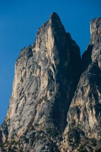 South Early Winters Spire - Direct East Buttress IV 5.11a or 5.10a C0 - Washington Pass, Washington, USA. Click to Enlarge