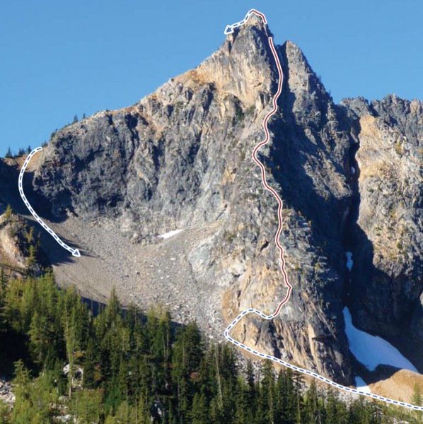 Blue�s Buttress on Poster Peak.