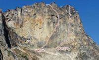 Big Kangaroo - Beckey-Tate III 5.9 - Washington Pass, Washington, USA. Click to Enlarge