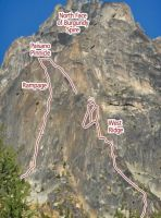 Paisano Pinnacle - West Ridge III 5.9- - Washington Pass, Washington, USA. Click to Enlarge