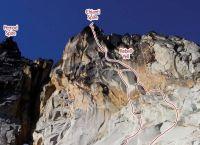 Chianti Spire - Rebel Yell III 5.10b - Washington Pass, Washington, USA. Click to Enlarge