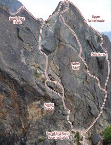 Concord Tower - Patriot Cracks II 5.8 - Washington Pass, Washington, USA. Click to Enlarge