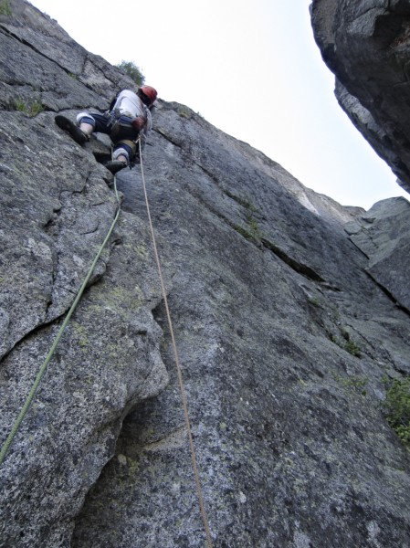 steep pitch after the flying buttress