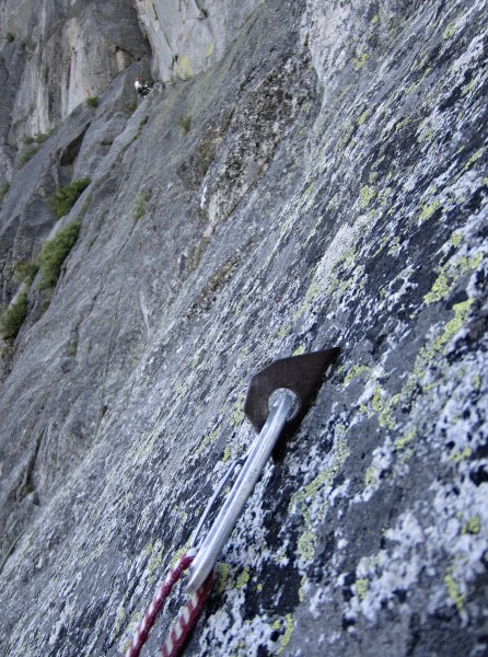 Old bolt at beginning of traverse