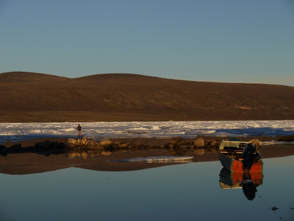 &amp;#40;c&amp;#41; h.a. <br/> clyde river in july. note that the ice is back in the bay.