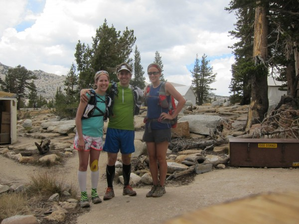 Lizzy, Luke and Julie at the Vogelsang High Sierra Camp