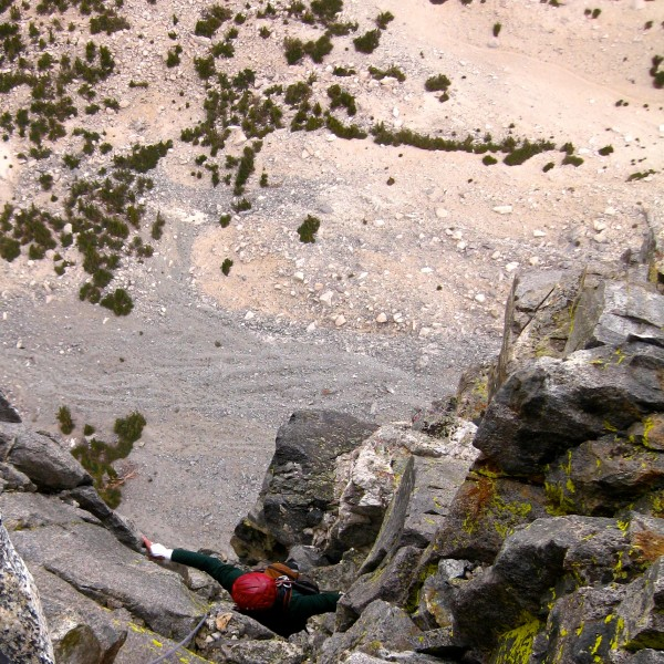 The top of pitch 5 just after the Chimney.
