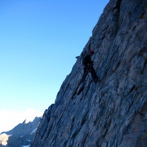 rappel into contact pass.