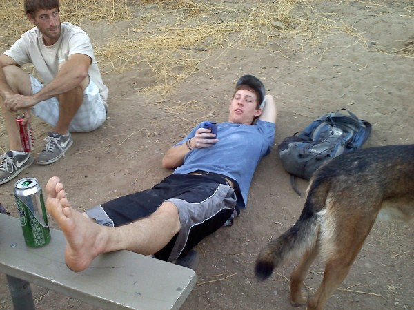 Tyler, of course would sprain his ankle on Pump Rock