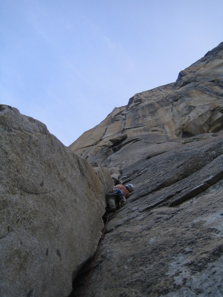 A fun 5.10 pitch below the Ear on the Salathe