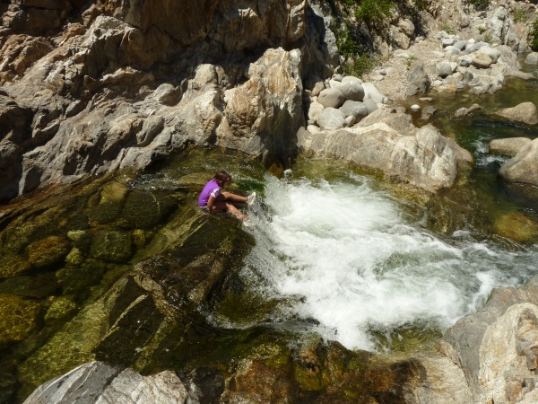Charging the rapids at Arroyo Seco