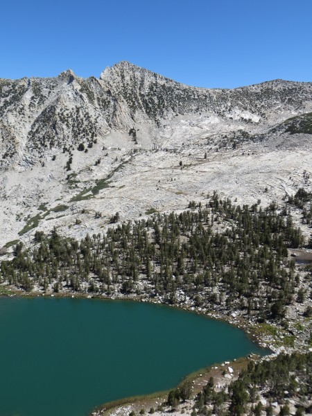 Hooper Lake with an unnamed peak