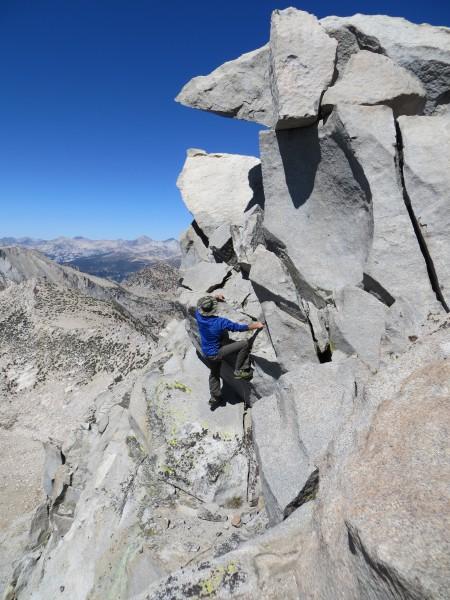 Jeremy bouldering 1,000' high