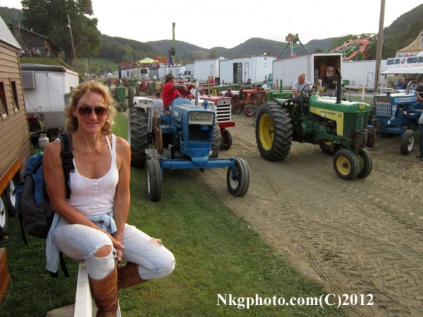 Isa and the tractors.. Tunbridge Worlds fair