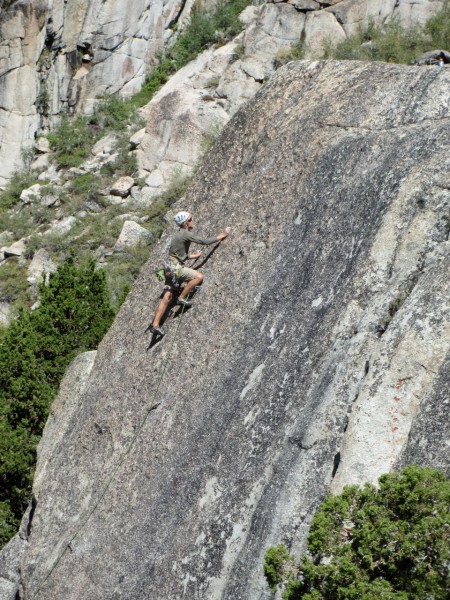 "FA of ""Peals"" 5.10a Chipmunk Flat, Sonora Pass"