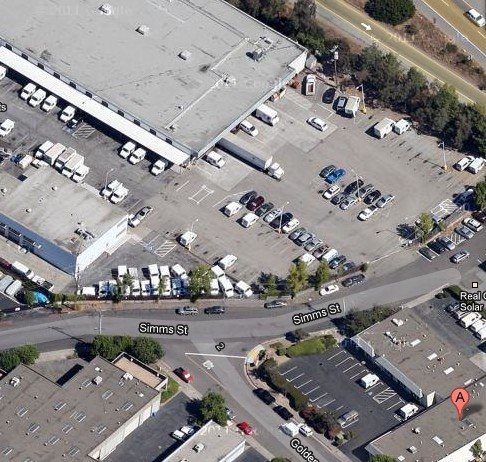 A is my warehouse and the upper left corner is the post office loading...