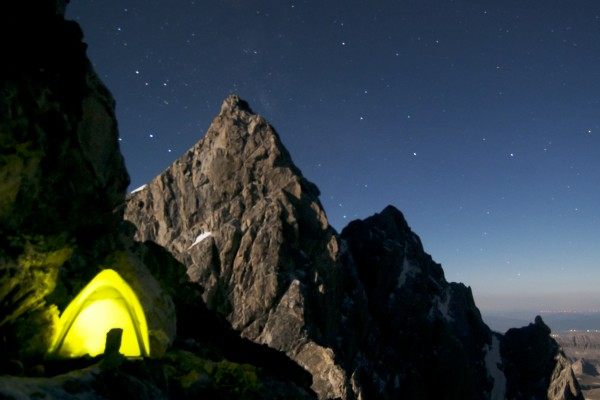 Camp on Mt Owen on a carryover of the Valhalla Traverse, Serendipity A...