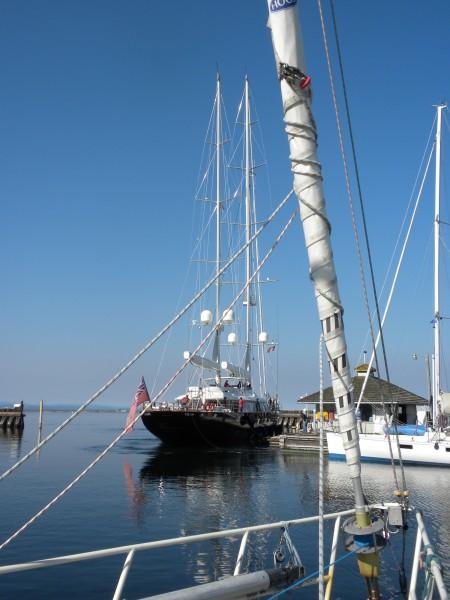 Tamsen, a 178 foot mega sailing yacht.