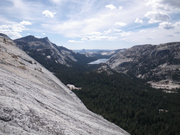 Tenaya Peak, Half Dome, and Tenaya Lake, from Medlicott Dome
