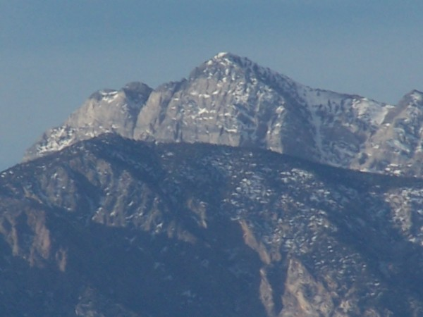 This peak at the head of San Lucas Canyon has some climbing potential ...