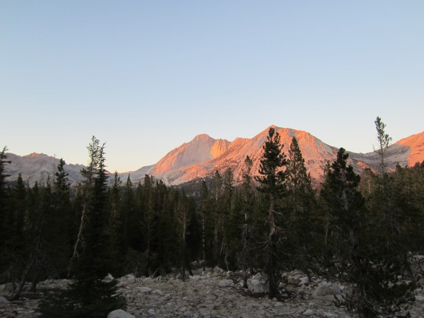 Mt Conness in the evening