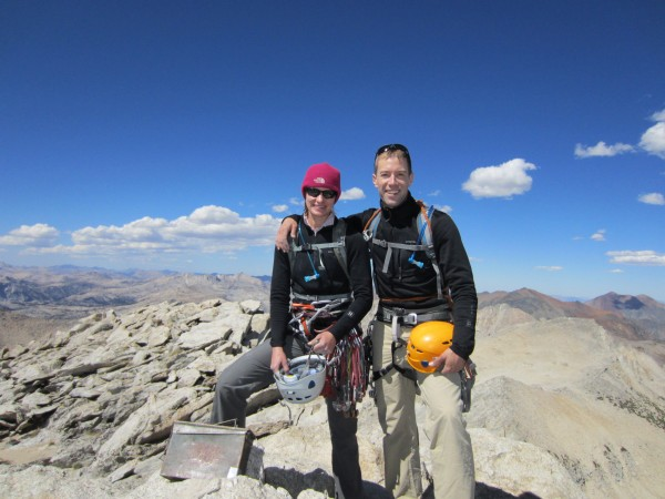 At the summit and feeling great!  No vomiting this time and plenty of ...