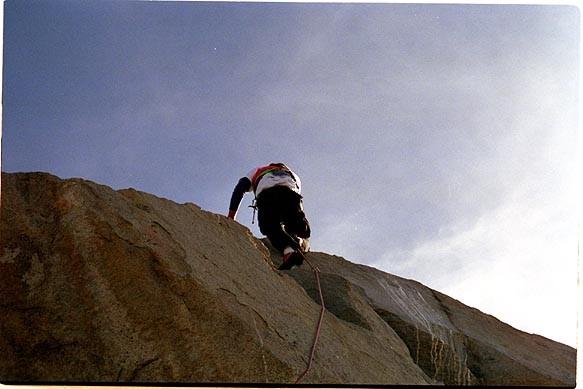 Summiting from the north ridge.