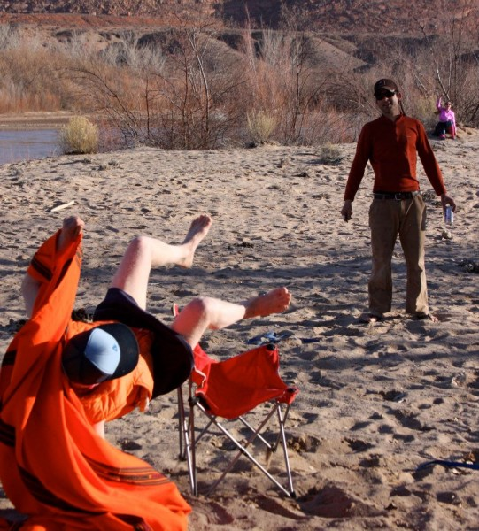 Beerolympics on the San Juan river