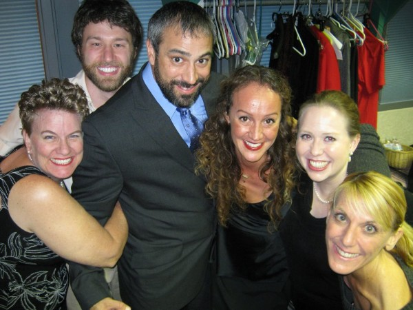 Martie, R.A.P., Gabe, Leggs, Avis and Carrie, backstage