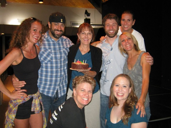 Leggs, Gabe, Sue (stage manager), R.A.P., Laura (director), Carrie, Av...