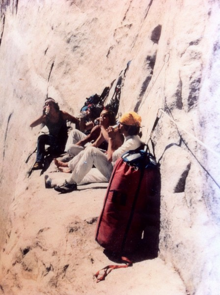Ian on da left...Heart Ledge Party, El Cap, 1979. Ian, ec, ed sampson,...