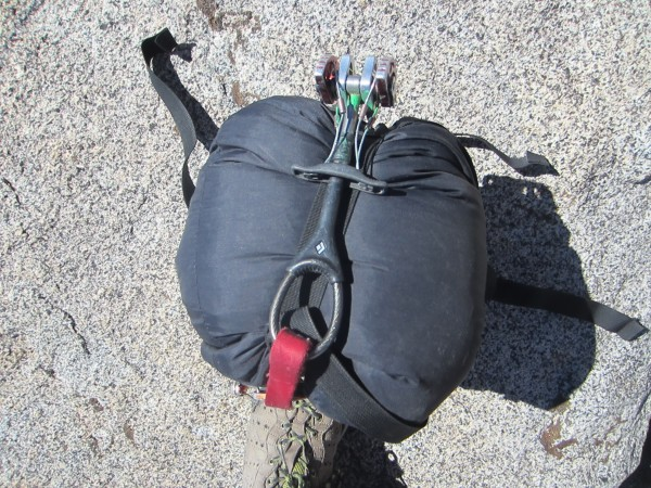 Compressed bag & bivy - side view.
