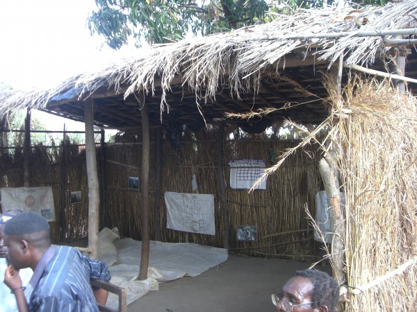 This is the existing school in this village.