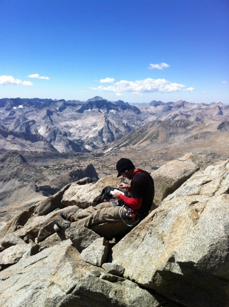 Charlie on the summit of North Palisade
