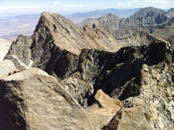 Looking towards Mt.Sill from the summit of N. Palisade