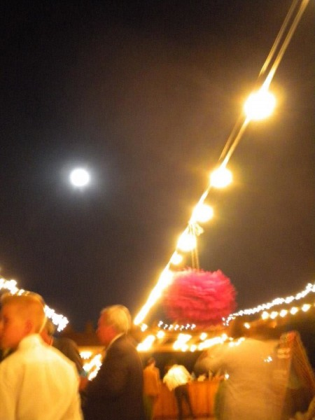 The reception, under the Harvest Moon