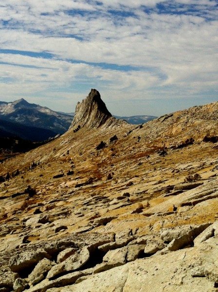 View of Matthes crest on the way to Cockscomb from echo ridge
