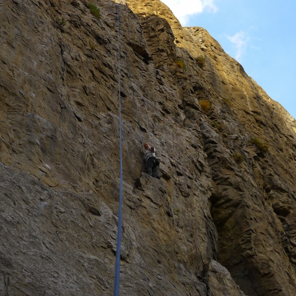 Amy Wilkins on a new 5.8 at the Banana Belt.