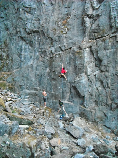 Animal Style 5.12c.  Sick crimps and bouldery moves the whole way.  Th...