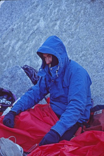 Here is Duane freezing his ass off on the Argentiere Glacier waiting f...